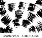 brush grunge pattern. white and ... | Shutterstock .eps vector #1308716758