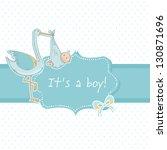 Cute Baby Boy Announcement Car...