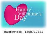 happy valentine's day  gift... | Shutterstock .eps vector #1308717832