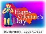 happy valentine's day  gift... | Shutterstock .eps vector #1308717838