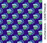 multicolored summer seamless... | Shutterstock .eps vector #1308754618
