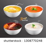 collection of four bowls with... | Shutterstock .eps vector #1308770248