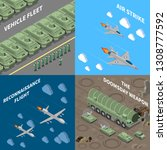 military vehicles 2x2 design... | Shutterstock .eps vector #1308777592