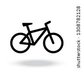 bicycle vector icon   Shutterstock .eps vector #1308782128