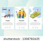 vector set of onboarding... | Shutterstock .eps vector #1308782635