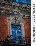 exterior detail of facades in... | Shutterstock . vector #1308783685