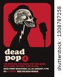 dead pop gig poster flyer... | Shutterstock .eps vector #1308787258