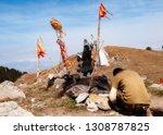 worshipping kali mata | Shutterstock . vector #1308787825