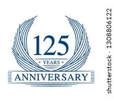 125 years design template.... | Shutterstock .eps vector #1308806122