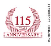 115 years design template.... | Shutterstock .eps vector #1308806155