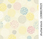 abstract shapes background.... | Shutterstock .eps vector #1308819025