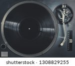 retro analog dj turntable... | Shutterstock . vector #1308829255