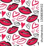 hand drawn doodle fashion art...   Shutterstock .eps vector #1308838432