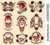 set of skateboarding club... | Shutterstock .eps vector #1308845482