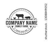 farm classic logo design | Shutterstock .eps vector #1308849052