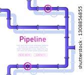 pipeline design background...   Shutterstock .eps vector #1308856855