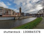roermond   view to rur harbour  ... | Shutterstock . vector #1308865378