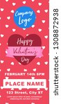 valentines day marketing banner ... | Shutterstock .eps vector #1308872938