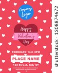 valentines banner a4 size | Shutterstock .eps vector #1308874672
