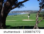 panoramic view of the golf... | Shutterstock . vector #1308876772