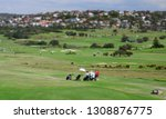 panoramic view of the golf... | Shutterstock . vector #1308876775