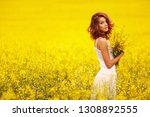 young beautiful girl in the... | Shutterstock . vector #1308892555