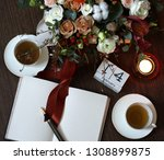 valentines day romantic evening ... | Shutterstock . vector #1308899875