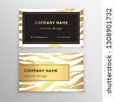 business card trendy zebra and... | Shutterstock .eps vector #1308901732