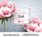 trendy spring sale background...   Shutterstock .eps vector #1308903412