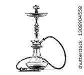 hookah.  pencil drawing. hand... | Shutterstock .eps vector #1308904558