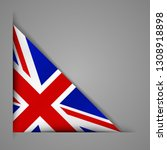 flag of the great britain .... | Shutterstock .eps vector #1308918898