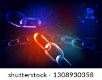data protection theme abstract... | Shutterstock .eps vector #1308930358