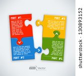 four parts puzzle   Shutterstock .eps vector #130893152