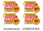 mega sale template banners... | Shutterstock .eps vector #1308935365