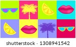 90's and 80 s style vector... | Shutterstock .eps vector #1308941542