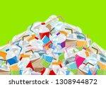 illustration pile of garbage... | Shutterstock .eps vector #1308944872