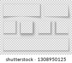 paper shadow. elements... | Shutterstock .eps vector #1308950125