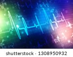 heart beats on healthcare and... | Shutterstock . vector #1308950932