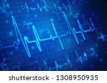heart beats on healthcare and... | Shutterstock . vector #1308950935