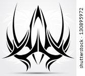 sharp tribal tattoo | Shutterstock .eps vector #130895972