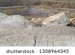 spoil heap scenery at a quarry... | Shutterstock . vector #1308964345