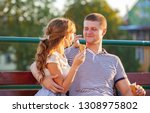 love and affection between a... | Shutterstock . vector #1308975802