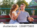 love and affection between a... | Shutterstock . vector #1308975805