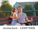 love and affection between a... | Shutterstock . vector #1308975808