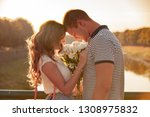 love and affection between a... | Shutterstock . vector #1308975832