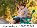 love and affection between a... | Shutterstock . vector #1308975865