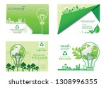 ecology concept on earth  eco... | Shutterstock .eps vector #1308996355