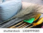 working tools of a janitor.... | Shutterstock . vector #1308999085