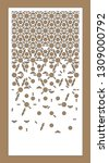 arabesque vector panel. laser...   Shutterstock .eps vector #1309000792