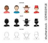 vector illustration of imitator ... | Shutterstock .eps vector #1309003918